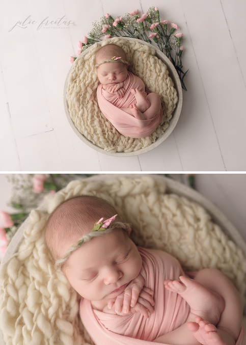 Spring baby newborn photos boston