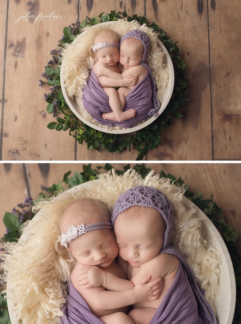 twin newborn photos